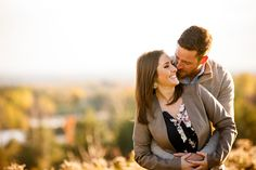Outdoor fall engagement session.