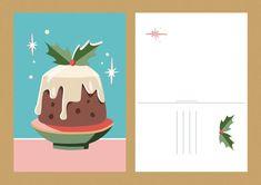 Christmas pudding, illustration by Jasmijn Solange Evans Christmas Pudding, Christmas Illustration, Christmas Cards, Christmas E Cards, Xmas Cards, Christmas Letters, Merry Christmas Card, Christmas Card Sayings