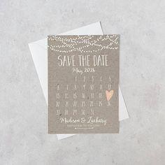 Sparen Sie das Datum Karte Kalender bedruckbar einfache