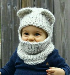 The Berkley Balaclava pattern by Jenny Nicole:knit pattern, convert to tunisian in the round Knitted I know that this is for a child but I would still wear it. Ravelry: The Berkley Balaclava by Jenny Nicole All of my patterns are designed to be simple to Knitting For Kids, Baby Knitting Patterns, Loom Knitting, Baby Patterns, Crochet Patterns, Knitting Toys, Yarn Projects, Knitting Projects, Crochet Projects