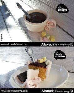Equipo Creativo Repostería Alborada Home: Cupcake Taza de Chocolate Caliente