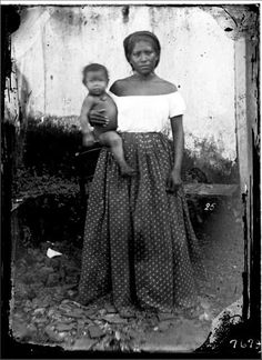 Mulher de Manus , com criança (possivelmente de uma classe mais baixa) - Missão Thayer.O Livro Viagem ao Brasil (1865-1866)
