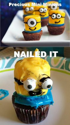 Found these adorable minions at tablespoon.com. My trial run didn't quite meet the expectation. Nailed it....Pinterest Fail
