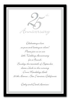 25th anniversary invitations - Google Search