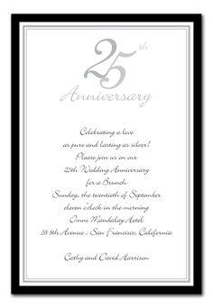 25th anniversary invitations - Google Search