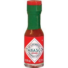 Tabasco Red Pepper Sauce Miniature Size 1/8 Oz. Ea. - Sold in Pack of 10 Bottles TABASCO brand,http://www.amazon.com/dp/B009WQU82S/ref=cm_sw_r_pi_dp_I8PIsb0ERZ12TG5X