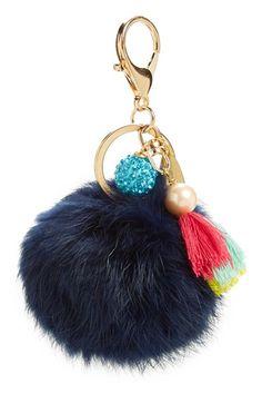 Lenora Dame 'Pom' Genuine Rabbit Fur Bag Charm