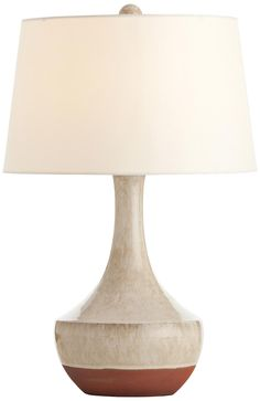 Arteriors Home Tavia Terracotta Oak White Table Lamp -