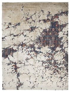 Jan Kath combines traditional Persian ornamentation with his trademark distressed effects to give the impression of age