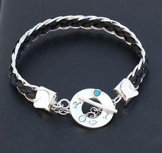 Benutzerdefinierte Rosshaar-Armband Armband Silber von Enigmahorse