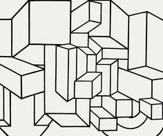 "Al Held, ""B/W IX"" (1968), acrylic on canvas, 114 x 136 in"
