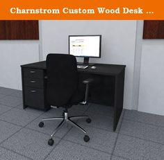 "Charnstrom Custom Wood Desk with File Drawers, 62-Inch W. 62"" W Custom Wood Desk with File Drawers This custom line of office desks mail center sorters designed the facilities that need their furniture to blend in or stand with office architecture. Each drawer easily slides on ball bearing slides. General supply drawers one file drawer. These supervisors desk come in a variety of colors Gray, Black, Oak, Walnut Light Maple. A wood sorter or sorter riser combinational complete system...."