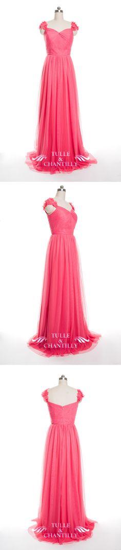 tulle watermelon bridesmaid dresses 2016