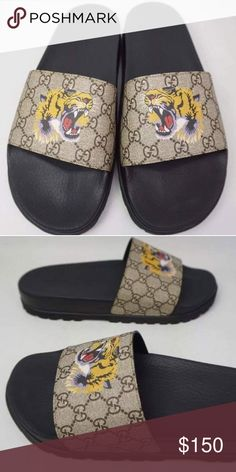 82728aa36 Gucci Tiger slides 2017 Brand new deadstock Receipts included many sizes  available Authentic Original box included tags included Available Text for  sizing ...