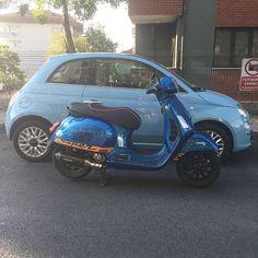 MOTORBLOG — Vespa GTS & Fiat 500 Motor Scooters, Vespa Scooters, Motor Car, Motos Vespa, Vespa Gts, Italian Lifestyle, Fiat 500, Industrial Design, Italy