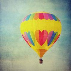 Balloon hearts photo art print