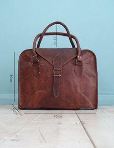 The Vagabond 24 hour bag: Vintage style brown by VintageChildShop