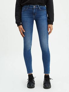 Levi/'s Women/'s WEDGIE SKINNY Jeans High Rise Snug Distressed Ripped /& Plain 95£