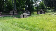 Storage Cabins From Revolutionary War. Valley Forge National Park.  Philadelphia, PA