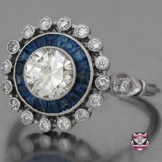 sapphire and diamond, ftw...i like how they built it out with more diamonds.
