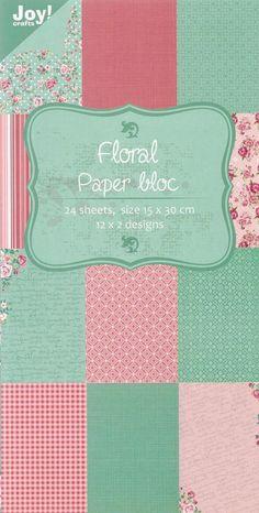 *Floral-bloc*Motivkarton*250gr*Kartengestaltung*Scrapbooking*Papier*