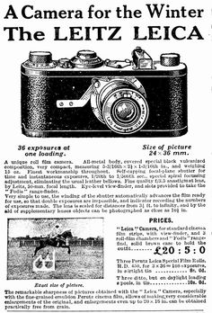 History Of Photography, Vintage Photography, Leica Camera, Camera Lens, Leica Photography, Classic Camera, Vintage Cameras, Photos For Sale, Photo Tips
