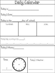 Maybe laminate this and have students pick up one of these up as well as a clipboard as they come to the carpet for Morning Meeting. Erase when they are finished. Great way to keep kids involved with Morning Meeting.