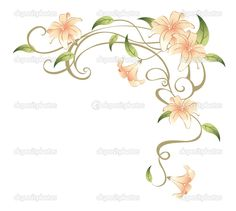 Flower Vine Tattoos | Flower and vines — Stock Photo © Li Su #3462915