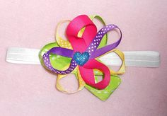 Colorful Spring/Summer Baby Girl  Hair Bow by ItsyBitsyBeauty, $11.00 #etsybows #RT