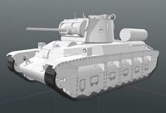 "#lowpoly #3dmodel средний танк МК 2 ""Матильда"" #modo  #foundry #3d"