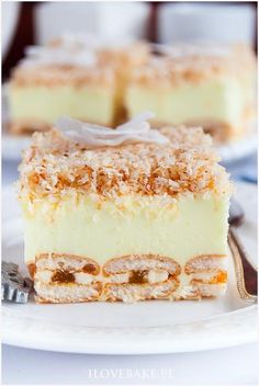 Ciasto śnieżny puch - I Love Bake Polish Desserts, Polish Recipes, Cheesecake Pops, Cake Recipes, Dessert Recipes, Delicious Desserts, Yummy Food, Homemade Cakes, Other Recipes