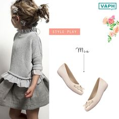 When styling your little princess, grey need not be a daunting option. Just throw in these fuss-free Ballerinas, embellished with pretty daisies for a playful and classy ensemble.   You are looking at Mia from VAPH girl collection.  Check out our entire collection on www.vaph.in.   You can buy them from:  www.cherrytin.com