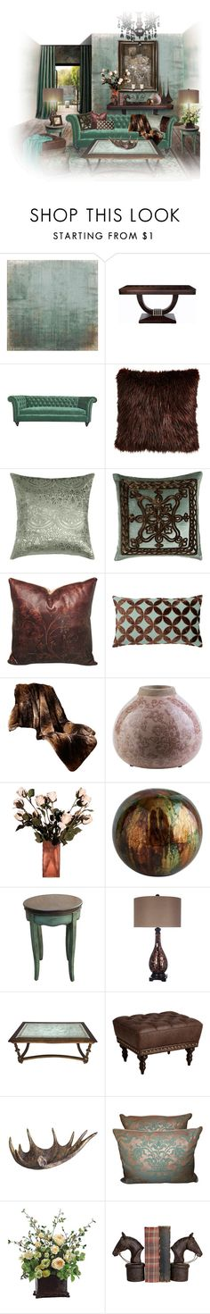 """B & G"" by lailoooo ❤ liked on Polyvore featuring interior, interiors, interior design, home, home decor, interior decorating, Bellagio, Kim Salmela, Sabira and Amity Home"