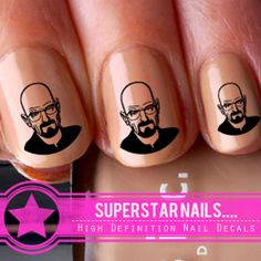x20 Walter White Breaking Bad Nail Art Decals Stickers Water Transfer Wraps 076 | eBay