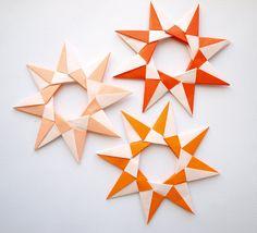 3 Origami stars
