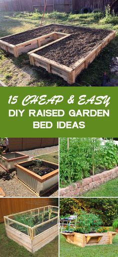 15 Cheap and Easy DIY Raised Garden Bed Ideas