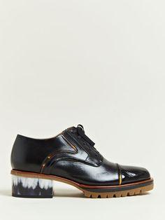 Dries Van Noten Women's Horn Detail Oxford Shoes