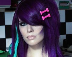 Inky Purple Feel: The rich purple color for the smooth long hair, gives it a deep inky feel.