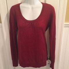 """Limited burgundy knit Light weight. About 25"""" long. The Limited Sweaters Crew & Scoop Necks"""