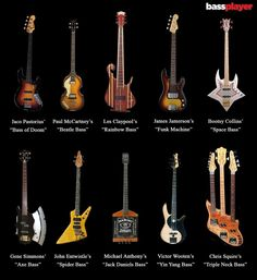 """""""What is your favorite iconic bass of all time? Famous Guitars, Famous Musicians, Smooth Jazz, Embedded Image Permalink, Music Instruments, Music Things, Bass Guitars, Instrumental, Dinosaurs"""