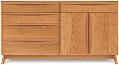 Catalina 4 Drawer On Left, 1 Drawer Over 2 Door On Right Dresser
