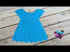 Robe en relief magnifique crochet 1 / Vestido en relieve tejido a crochet 1 Crochet Baby Dress Pattern, Baby Dress Patterns, Lidia Crochet Tricot, Knit Crochet, Crochet Girls, Crochet For Kids, Childrens Coats, Vestidos Bebe Crochet, Baby Dress Tutorials