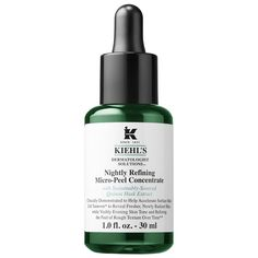 Shop Kiehl's Nightly Refining Micro-Peel Concentrate at Sephora. A nightly leave-on facial peel to support natural cell turnover. Best At Home Facial, Kiehl's Since 1851, Face Peel, Beauty Tips For Face, Chemical Peel, Bright Skin, Kiehls, Uneven Skin, Sephora