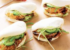 Steamed Chinese Roast Chicken Buns- Pillowy soft dough with unctuous sticky chicken inside.