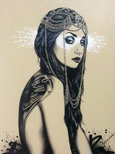 Valkyrja | by Fin DAC #illustration #girl #portrait