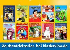 Sucht ihr bekannte Zeichentrickserien? Dann seid ihr bei www.kinderkino.de genau richtig! Hier könnt ihr Zeichentrickserien für Kinder legal und sicher online anschauen oder downloaden.