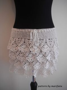 how to crochet ruffle skirt free pattern tutorial