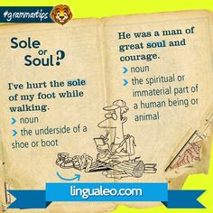 SOLE or SOUL?