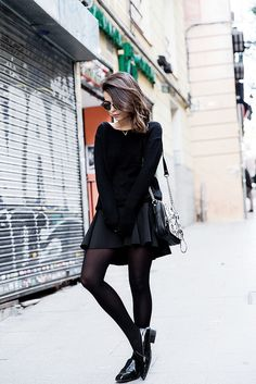Lace_Sweater-Neoprene_Skirt-Loafers-Outfit-Street_Style-Snake_Bag-Fur_Coat- by collagevintageblog, via Flickr