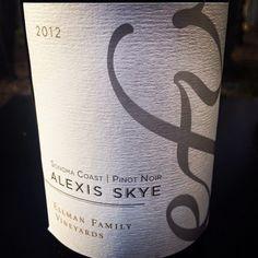 Nittany Epicurean: 2012 Ellman Family Vineyards Alexis Skye Pinot Noir